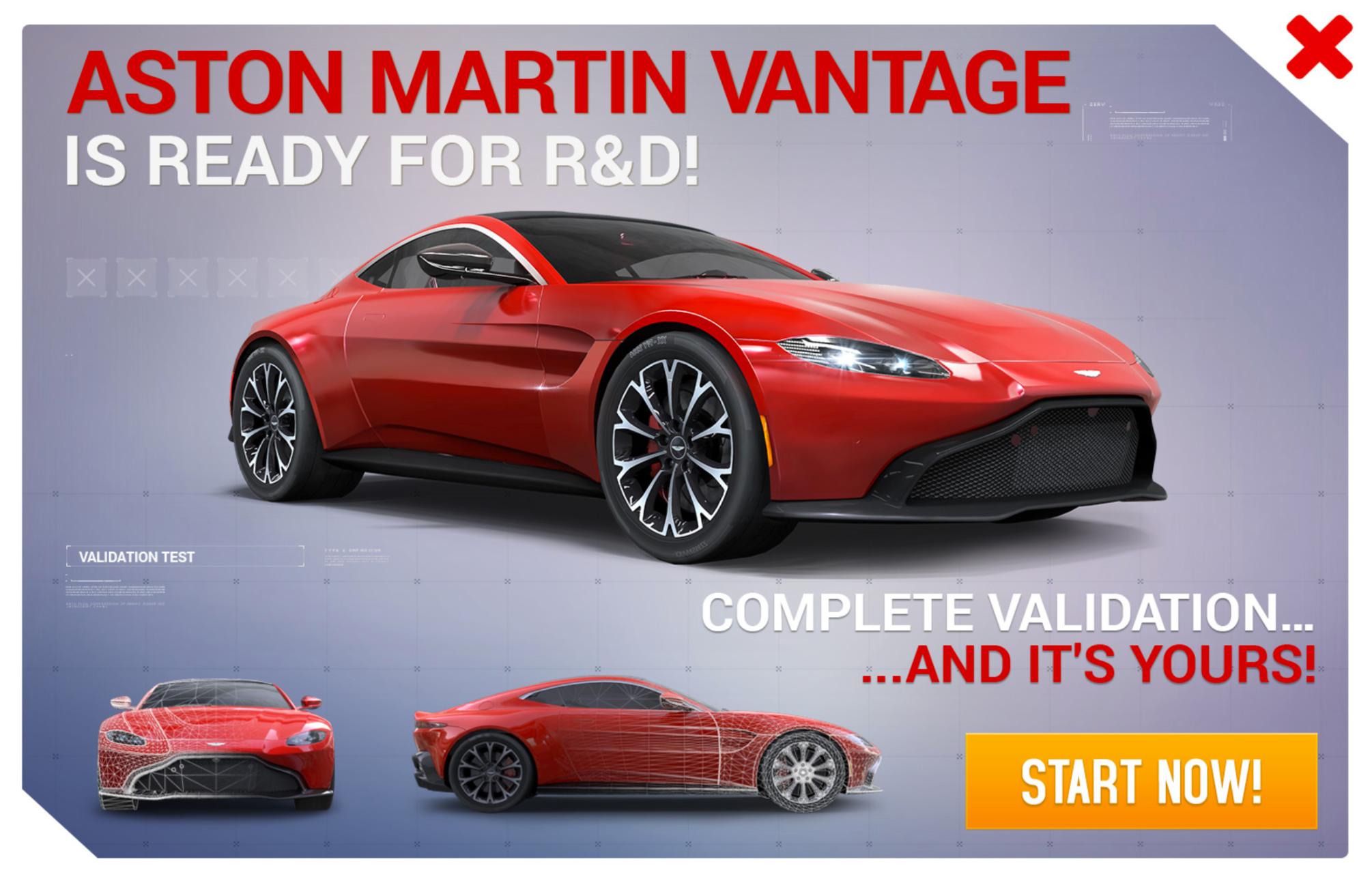 Aston Martin Vantage 2018 (Research & Development)