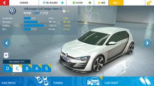 Volkswagen Golf Design Vision GTI stock tk mph an
