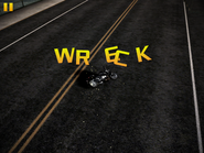 Wreck from fighter jet