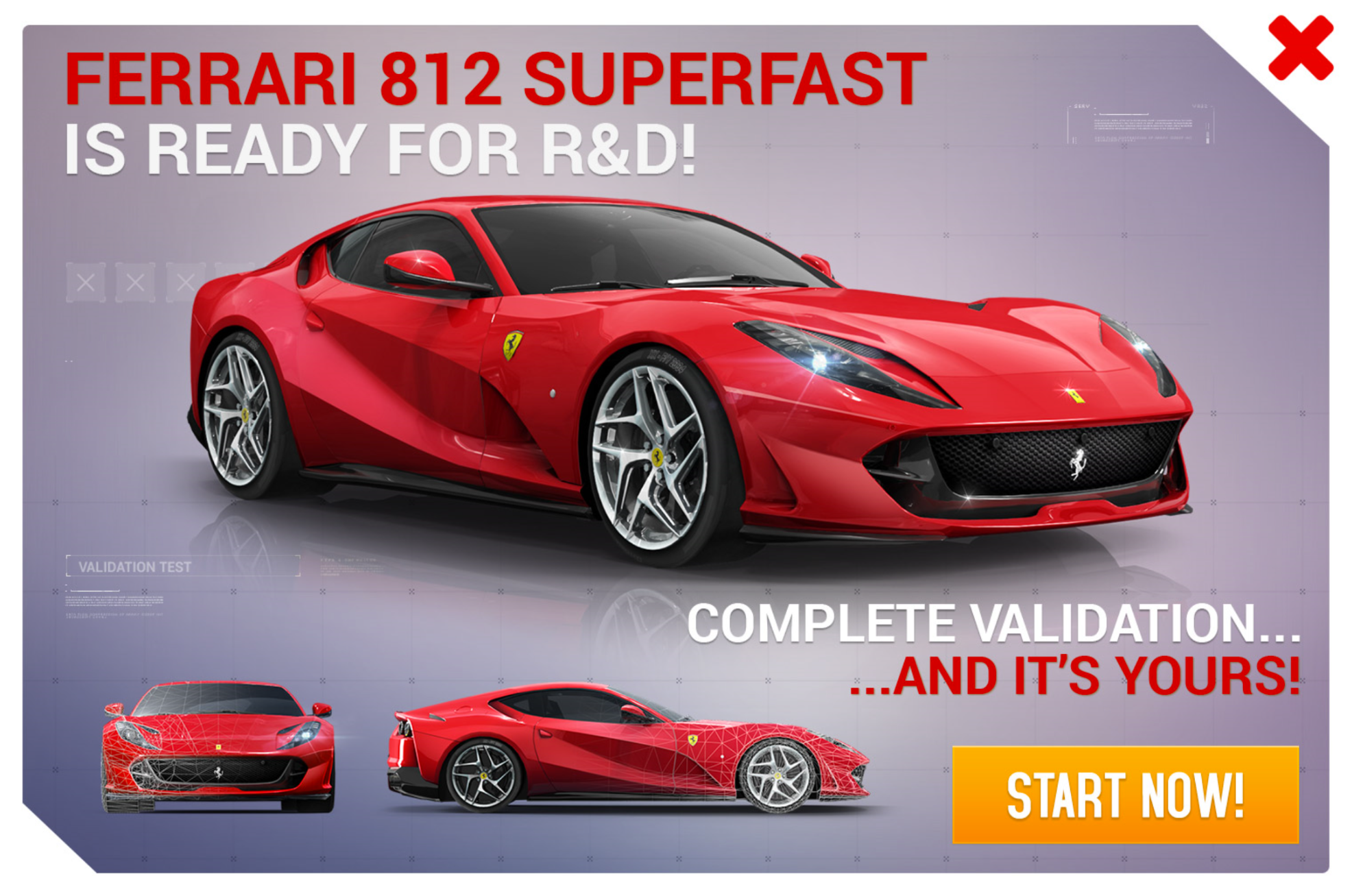 Ferrari 812 Superfast (Research & Development)