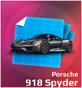 Gold Gift Box Porsche 918 Spyder