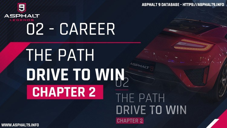 Asphalt 9: Legends/Career Mode/Chapter 2: The Path (Drive To Win)