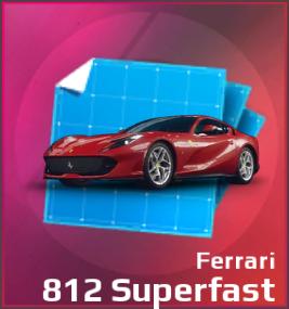 Ferrari 812 Superfast Blueprint