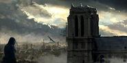ACUnity Arno osserva Notre Dame concept art