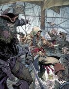 Assassin's Creed IV Black Flag poster promozionale by Todd McFarlane