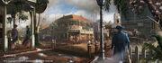 1777 New Orleans Downtown street by EddieBennun
