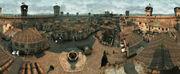 Monteriggioni Streets Aerial View