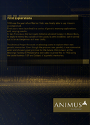ACO Documentation - Animus Guide - First Explorations