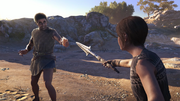 ACOD Debt Collector - Markos Giving Bread To Kassandra