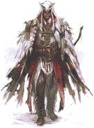 Concept art di Connor in vesti da Assassino mohawk