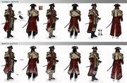Matthew Davenport, the commander outfits by johan g