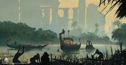 ACO Nile Delta Ruins - Concept Art