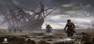 ACIV Naufrage Pirates Poursuite concept