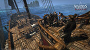 Assassin's Creed IV - Queen Anne's Revenge aft deck by greyson