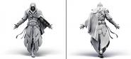 Modello dell'armatura su Ezio M. Thibault