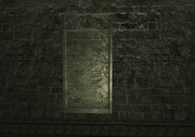 Auditore Crypt - One of the seven stone plaques