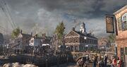 Boston docks in-game