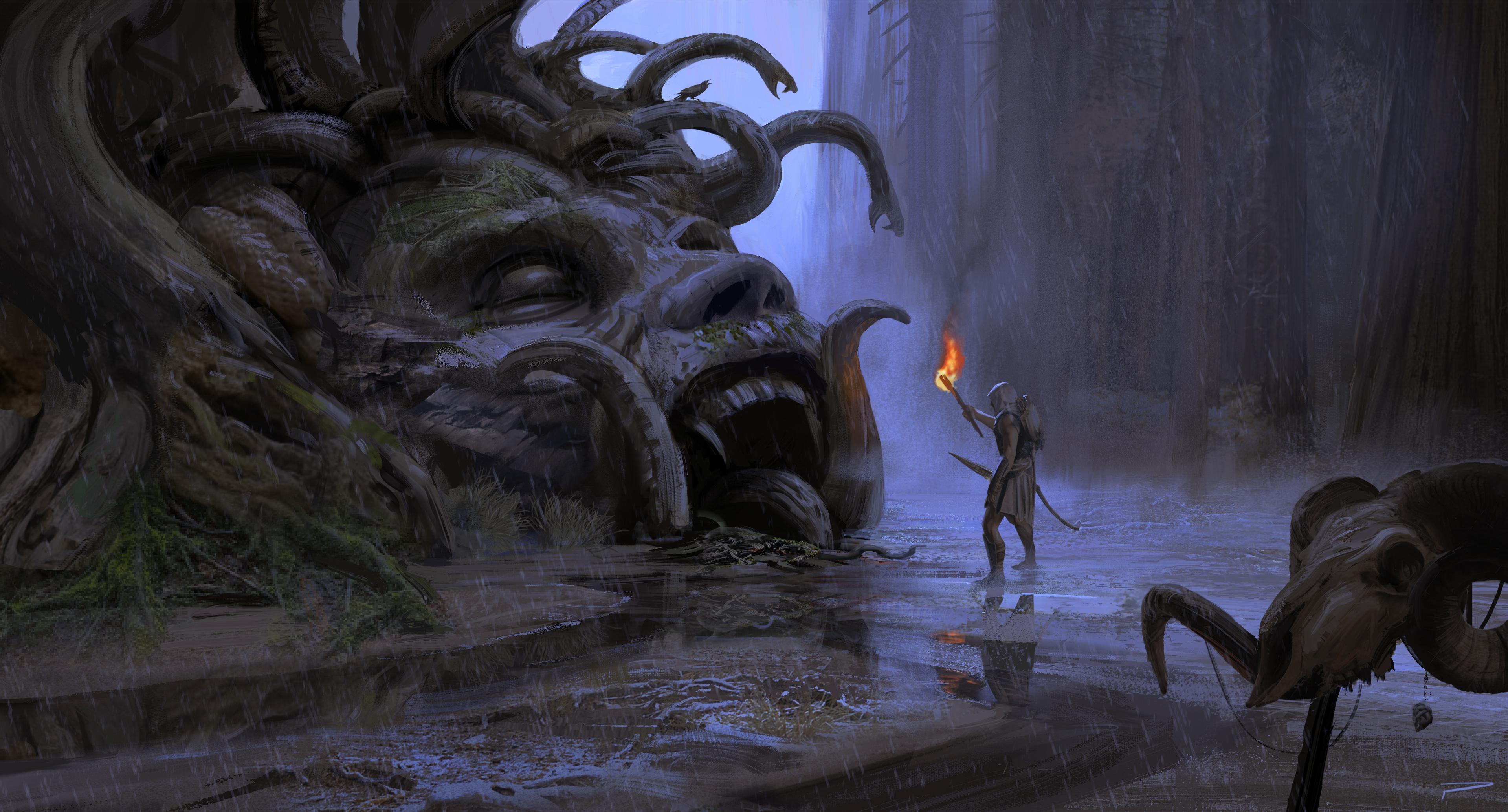 Cyclopean Head of Medusa
