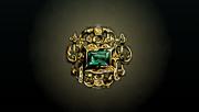 ACP Treasure Emerald Gold Pin