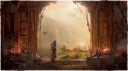 英灵殿入口的概念图