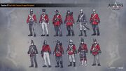 ACC India EIC British Soldiers Concept Sketches
