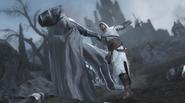 Robert affrontant Altaïr