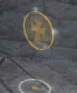 Templar golden coin