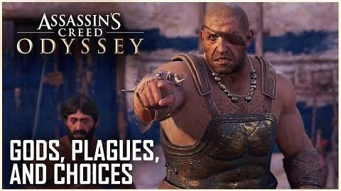 Assassin's Creed Odyssey Gods, Plagues, and Other Early Dilemmas Gameplay Preview Ubisoft NA
