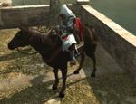 Ezio na koniu w Rzymie (by Kubar906)