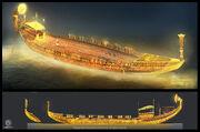 ACO Boat of Ra - Concept Art