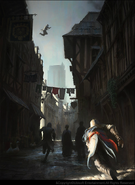 ACUnity Assassini strade concept art