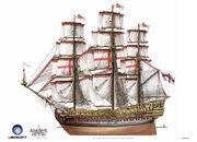 Assassin's Creed IV Black Flag -Ship- BritishMilitaryNavalShips RoyalSovereign by max qin