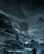 Ezio lascia Masyaf concept art