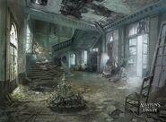 ACUnity interni abitazione dopo insurrezione concept art