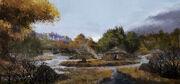 Hunter village artwork - Assassin's Creed Odyssey