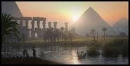 Konzeptzeichnung Pyramiden Nil