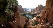 ACO Red Mountain Oasis - Concept Art