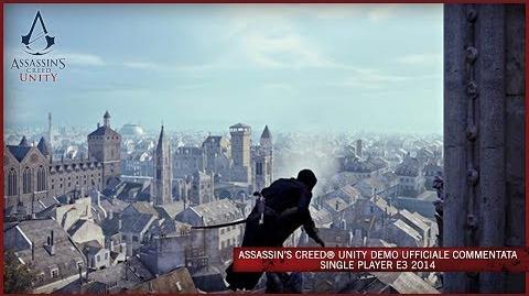 Assassin's Creed Unity Demo Ufficiale Commentata Single Player E3 2014 IT