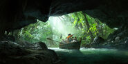 ACIV Pirates Jungle Chaloupe Grotte concept