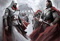 ACB Ezio vs Cesare - Concept Art