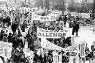 Manifestation Soutien Salvador Allende