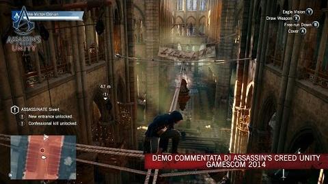 Demo commentata di Assassin's Creed Unity gamescom 2014 IT