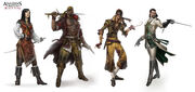 Assassin's Creed 4 characters. by johan g