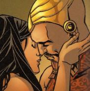 Numa et Leila baiser