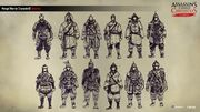 ACC China Mongol Soldiers Concept Sketches