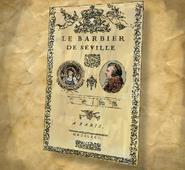 ACU Le Barbier de Séville Affiche de théâtre