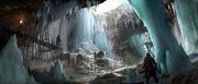 Rogue conceito de caverna de gelo