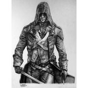 Assassin s creed unity arno dorian drawing by lethalchris-d7ohf9g
