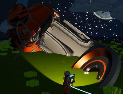 墜落した宇宙船