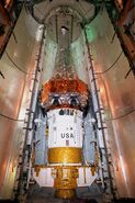 Chandra X-ray Observatory inside the Space Shuttle payload bay